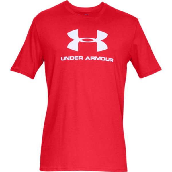 Tričko UNDER ARMOUR SPORTSTYLE LOGO Red